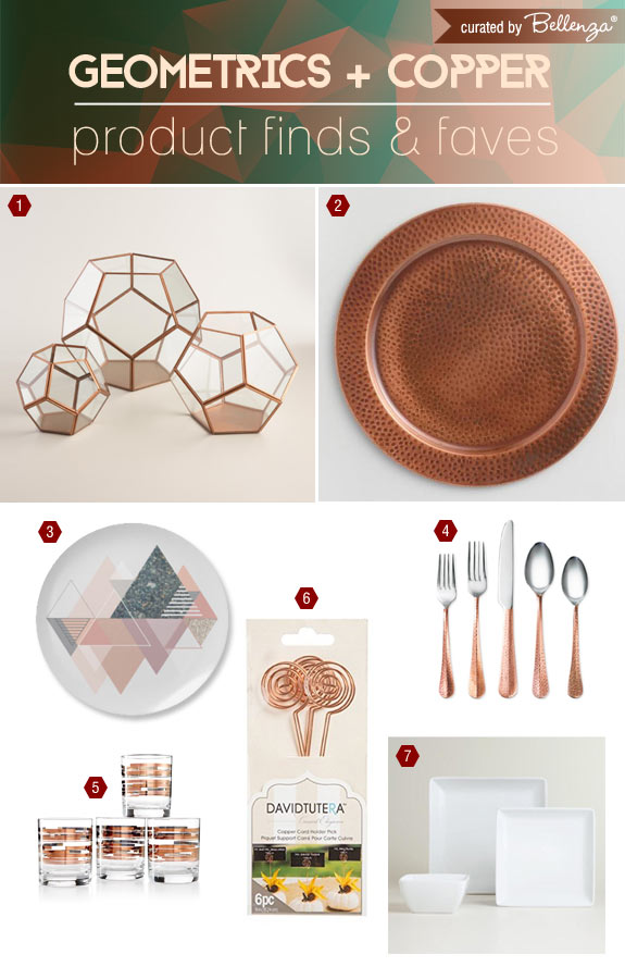 Geometrics and copper product faves and finds // curated find by Bellenza