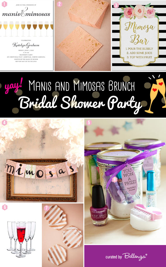 How to Plan a Chic Bridal Shower Brunch with Manis and Mimosas