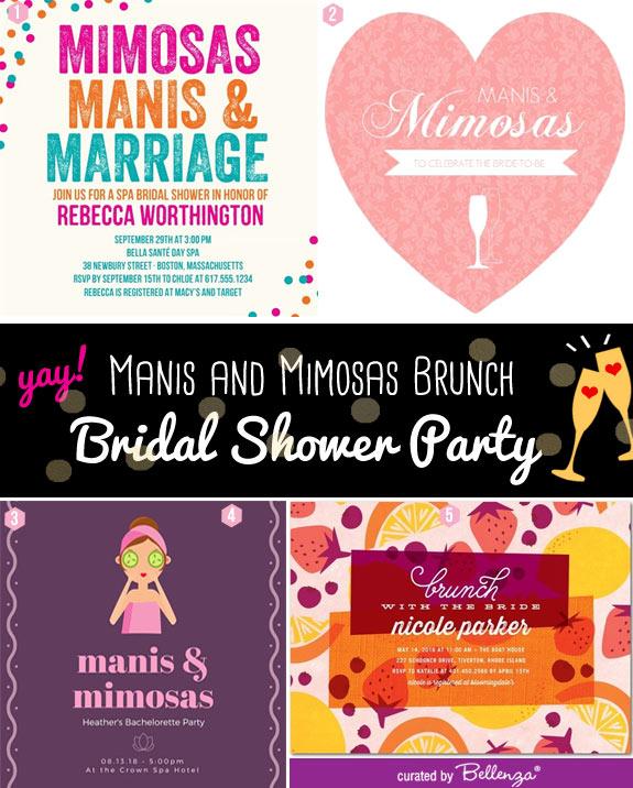 Manis mimosas invites