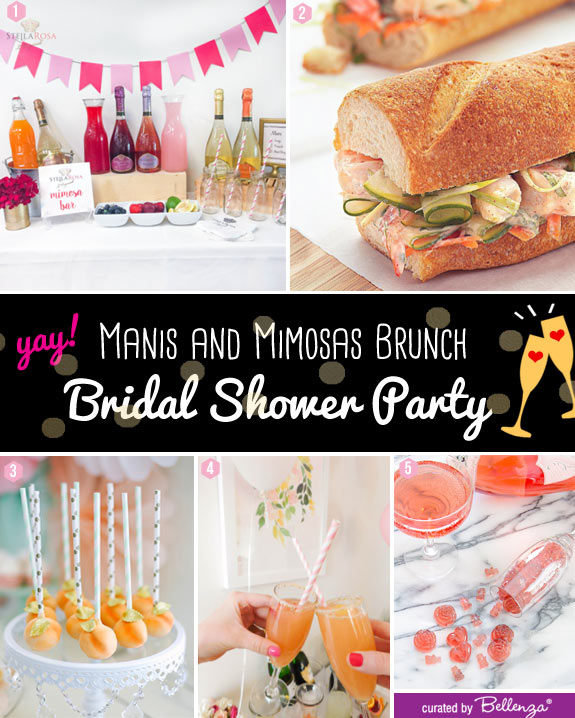 Bridal Shower Brunch Menu and Mimosa Bar