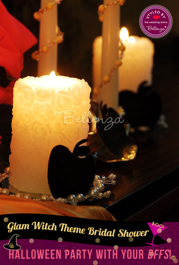 Spooky candlescape for Halloween // styled shoot by Bellenza