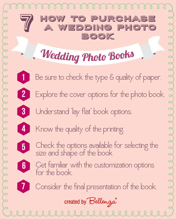 How to Purchase a Wedding Photo Book and Infographic from Bellenza