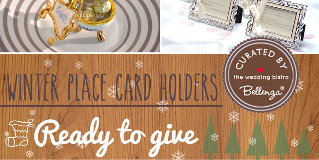 Stylish Winter Wedding Place Card Holders to Make or Buy