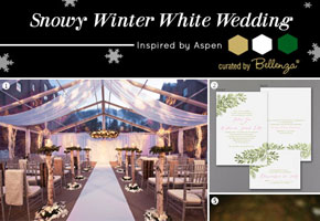 Styling inspiration for a rustic snowy winter wedding inspired by Aspen