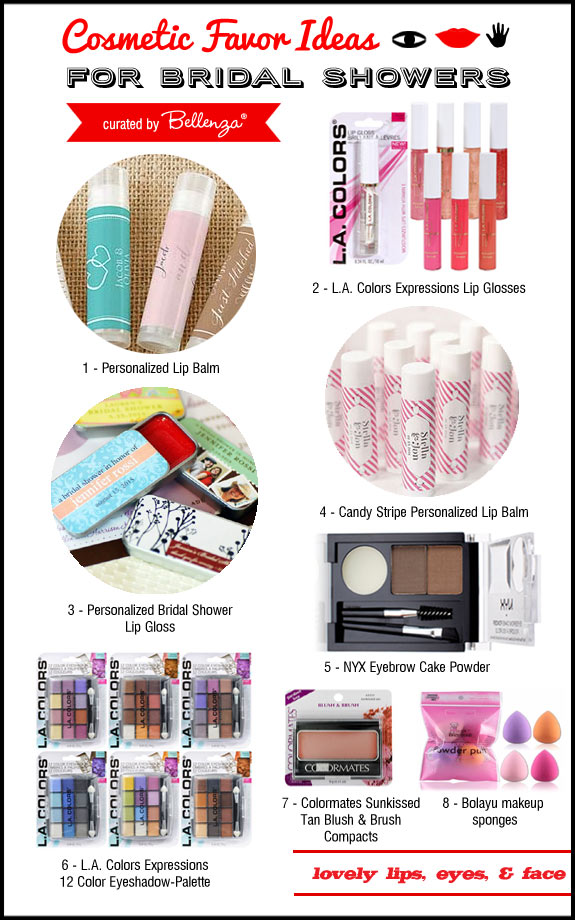 Lips, Eyes and Face Cosmetic Favors
