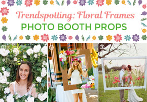 How to craft your own photo booth floral frames props