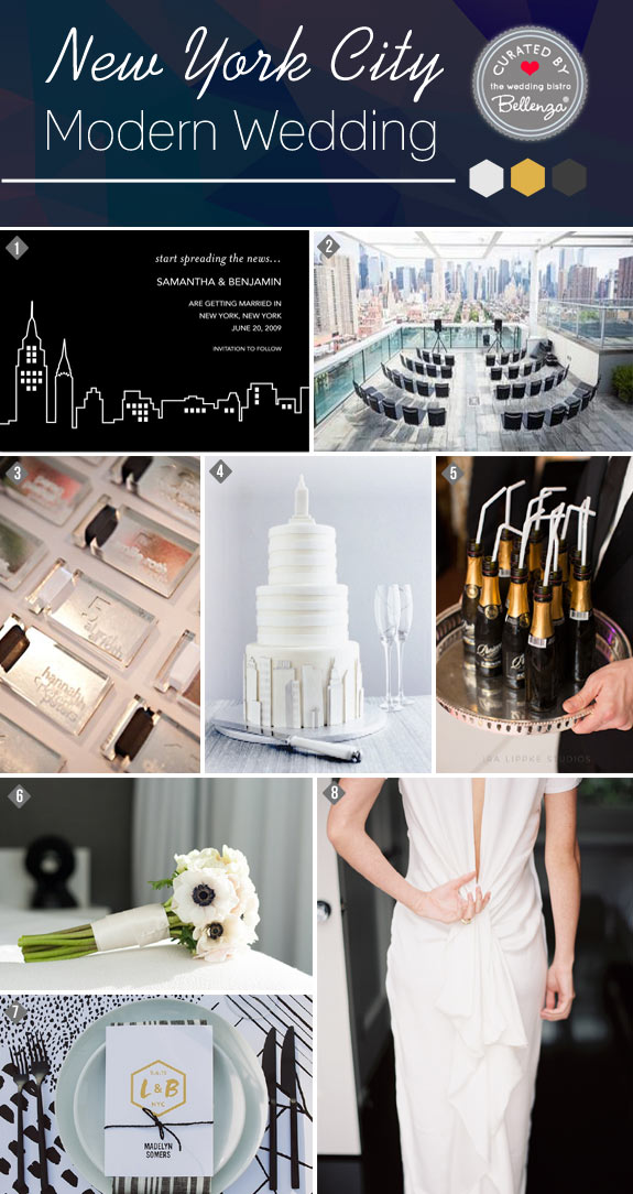 How to Style a Modern New York City Themed Wedding // Curated Ideas by Bellenza.