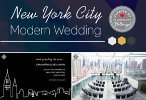 NYC Wedding with Modern Details // Curated Ideas by Bellenza.