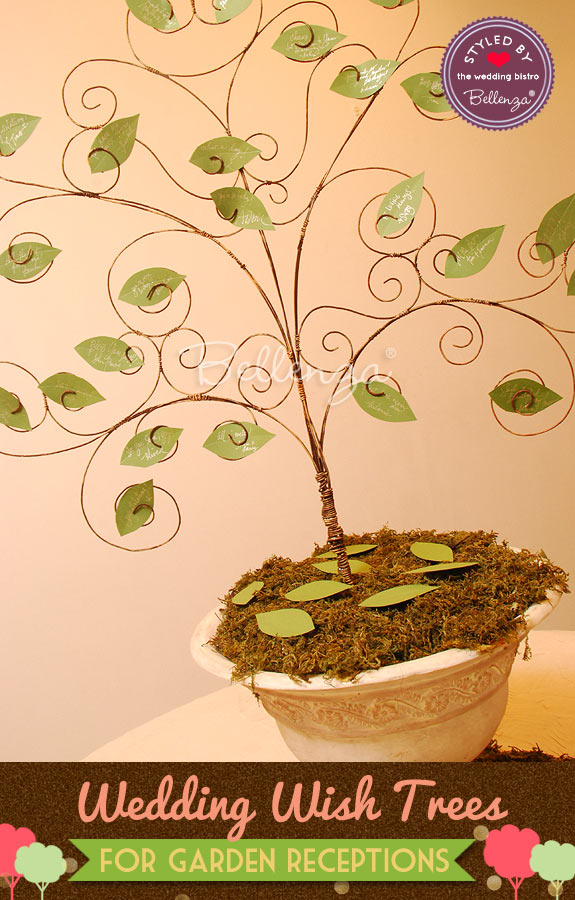 Spring-inspired wedding wish tree from Bellenza