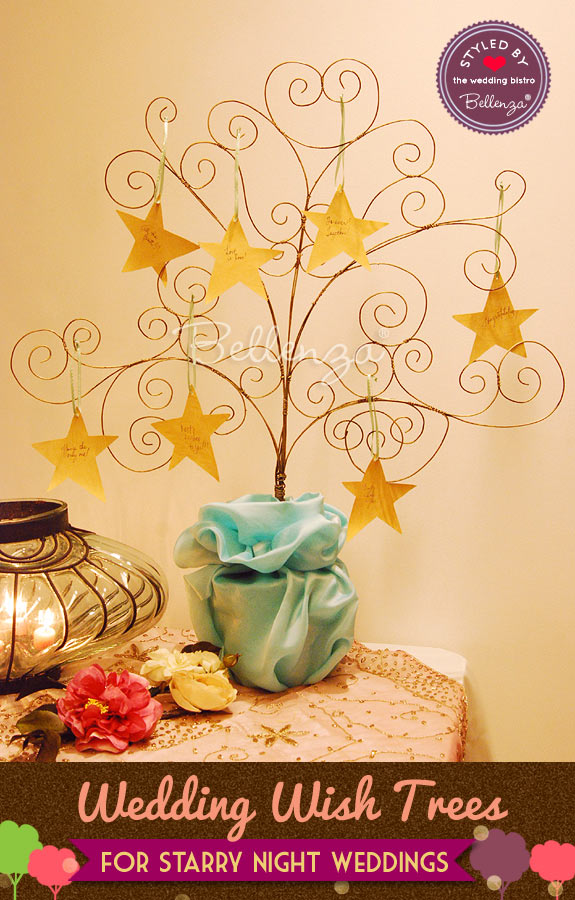 Starry-inspired wedding wish tree from Bellenza
