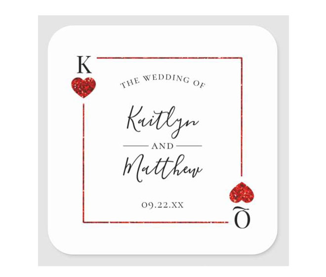 monogram red hearts stickers