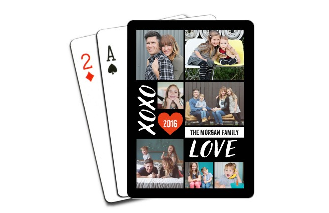 Photo playing cards favors
