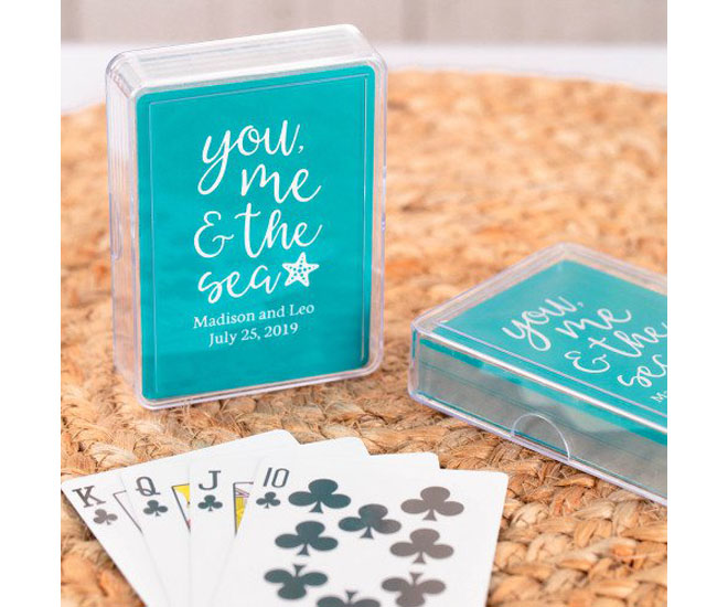 Playing cards in teal via Beau-coup