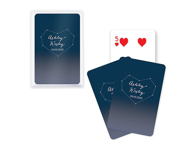 Starry night themed playing cards
