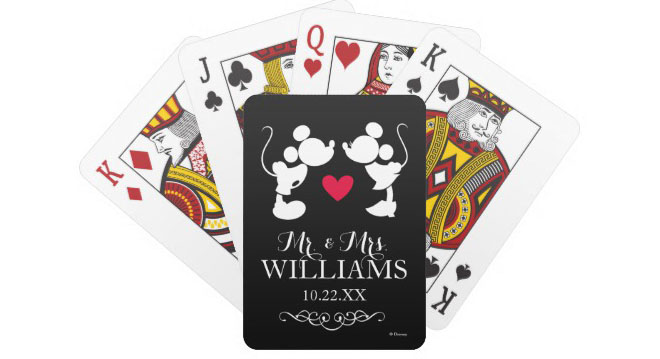 Mickey themed playing cards via Zazzle