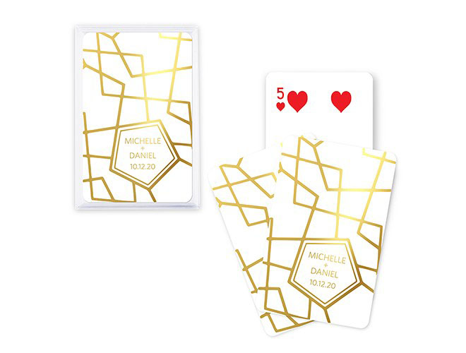 Retro luxe foil playing cards via weddingstar