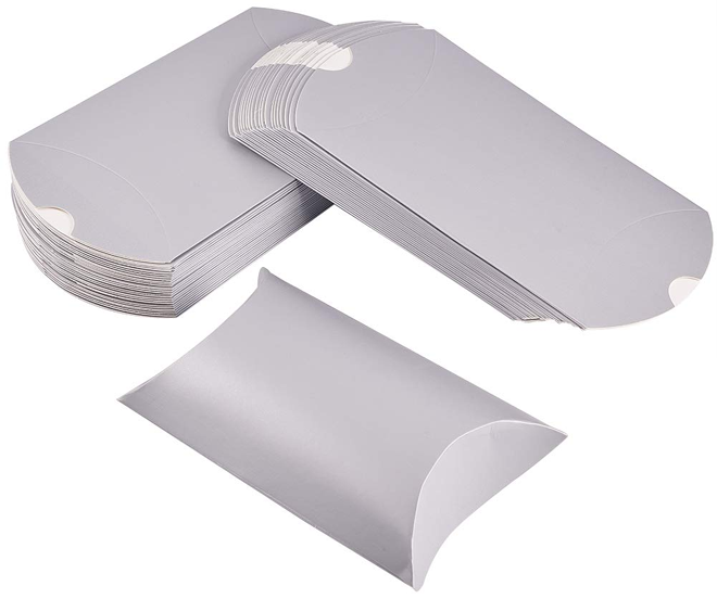 white Kraft pillow boxes for playing cards