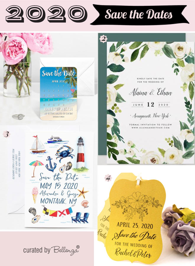 2020 Save the Dates for Summer Weddings