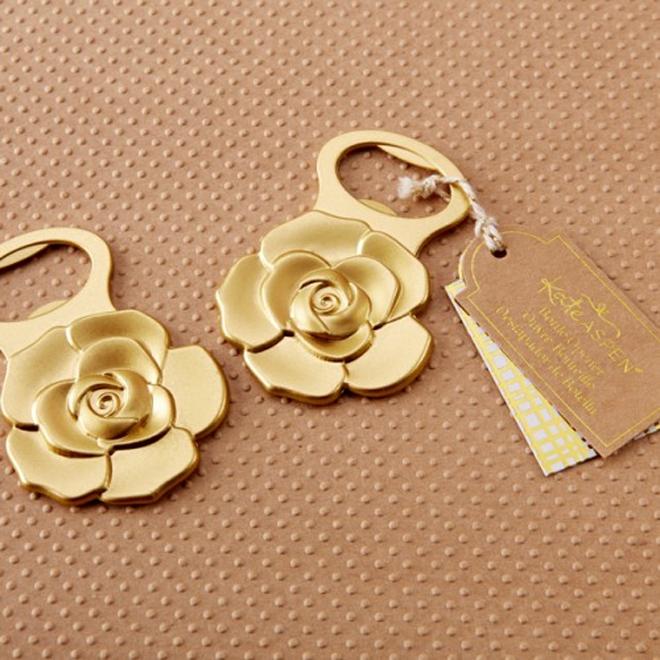 Gold rose bottle oepners