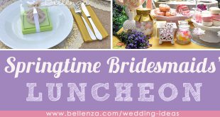 Spring bridesmaids luncheon