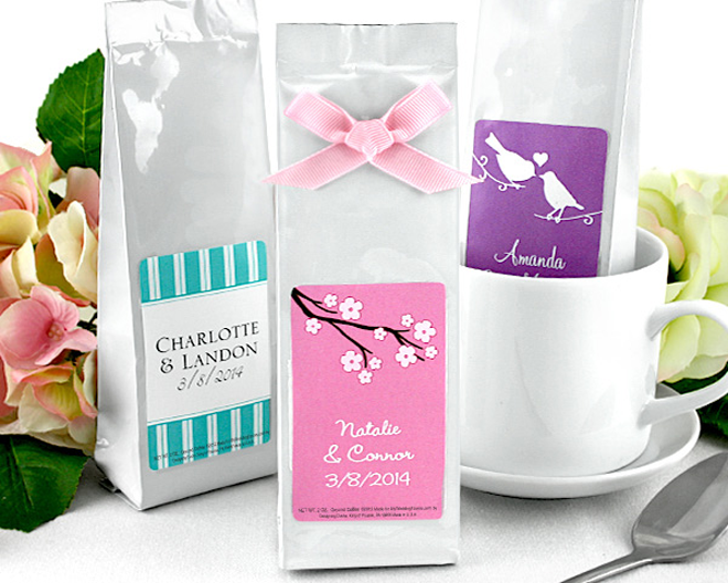 Spring coffee favors