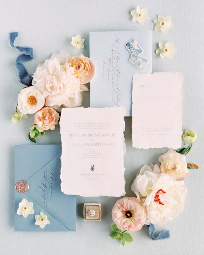 Invitation Suite for an Amalfi Coast-inspired Wedding Shoot in Marina del Rey
