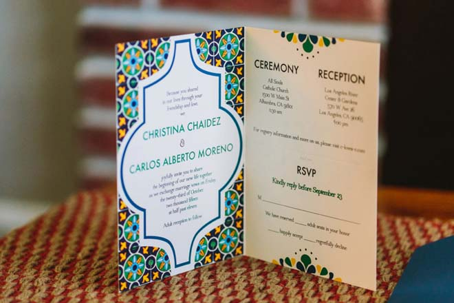 iesta-themed Wedding  Invitation