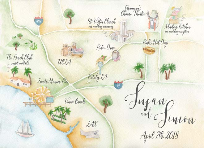 Los Angeles Wedding Map