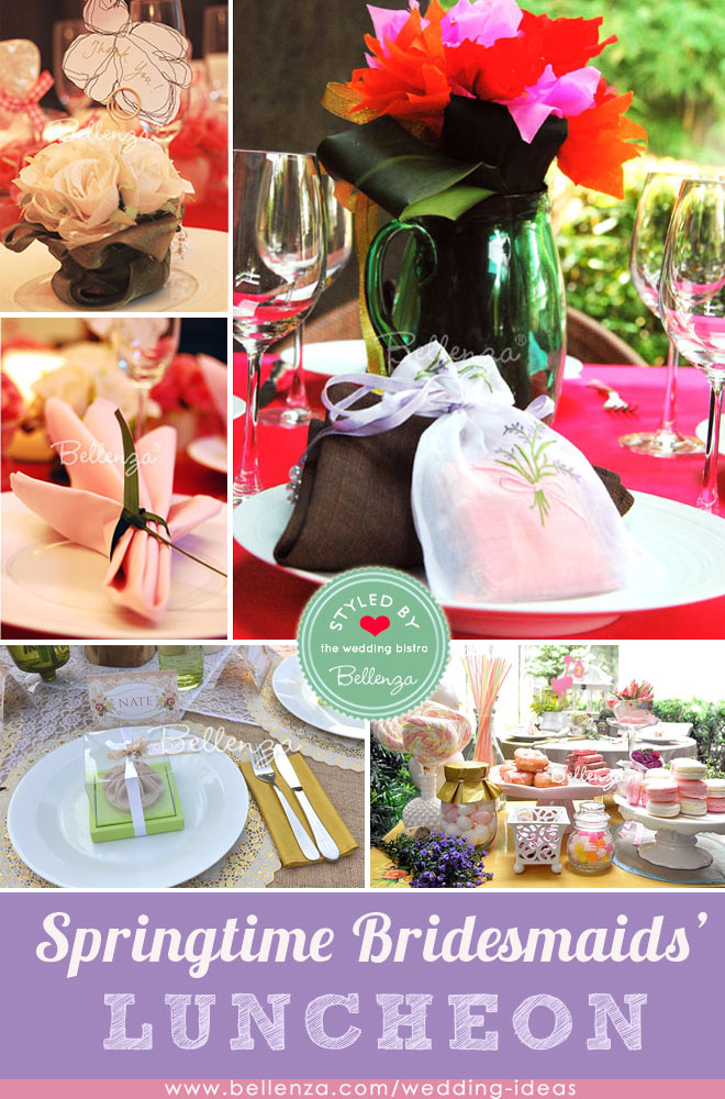 springtime bridal luncheon for bridesmaids