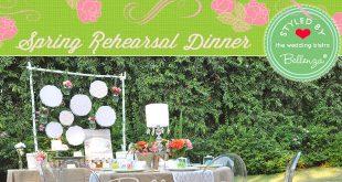 Spring rehearsal dinner garden party