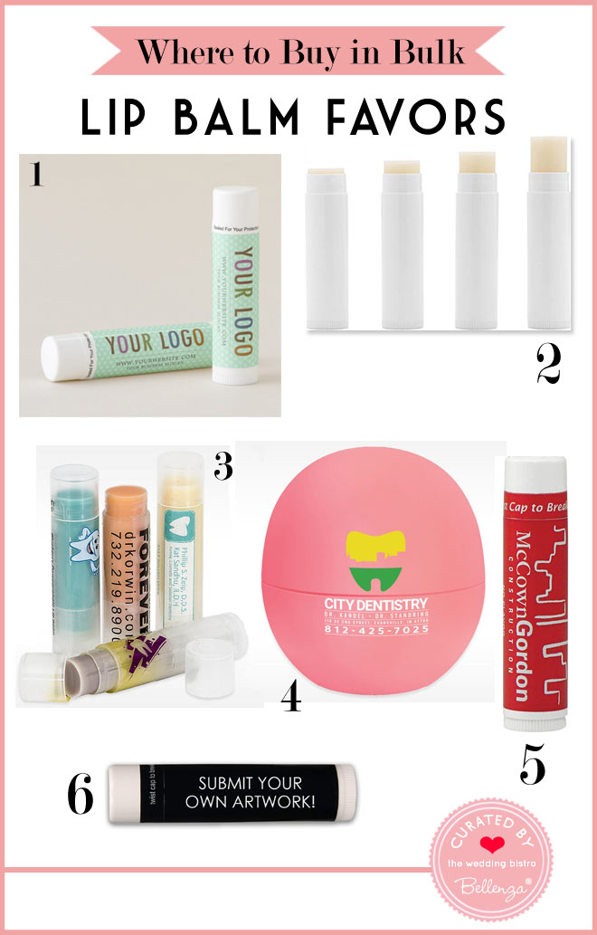Where to Buy Lip Balm Favors in Bulk for Your Wedding