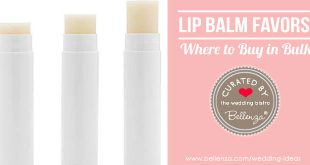 Lip balm wedding favors to buy in bulk
