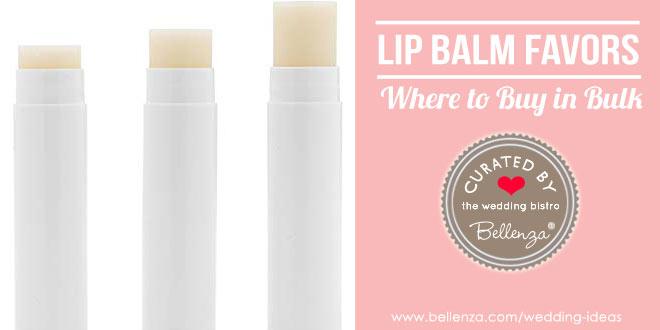 Lip balm wedding favors to buy in bulk