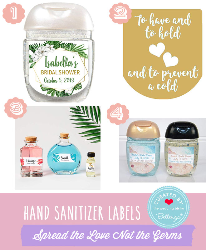 Hand sanitizer personalized labels