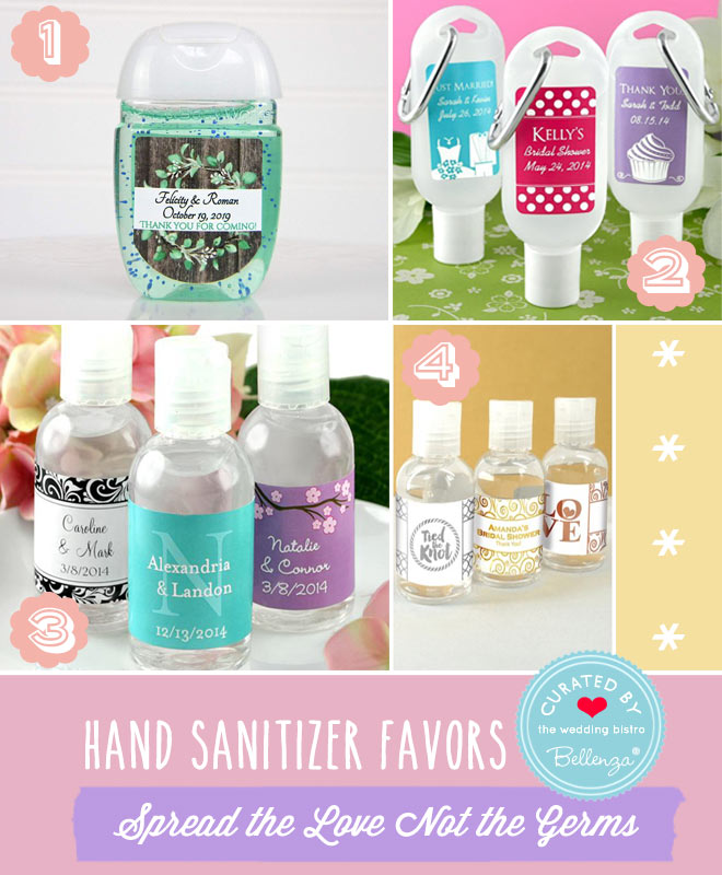 Ready Made Options for Hand Sani Wedding Favors