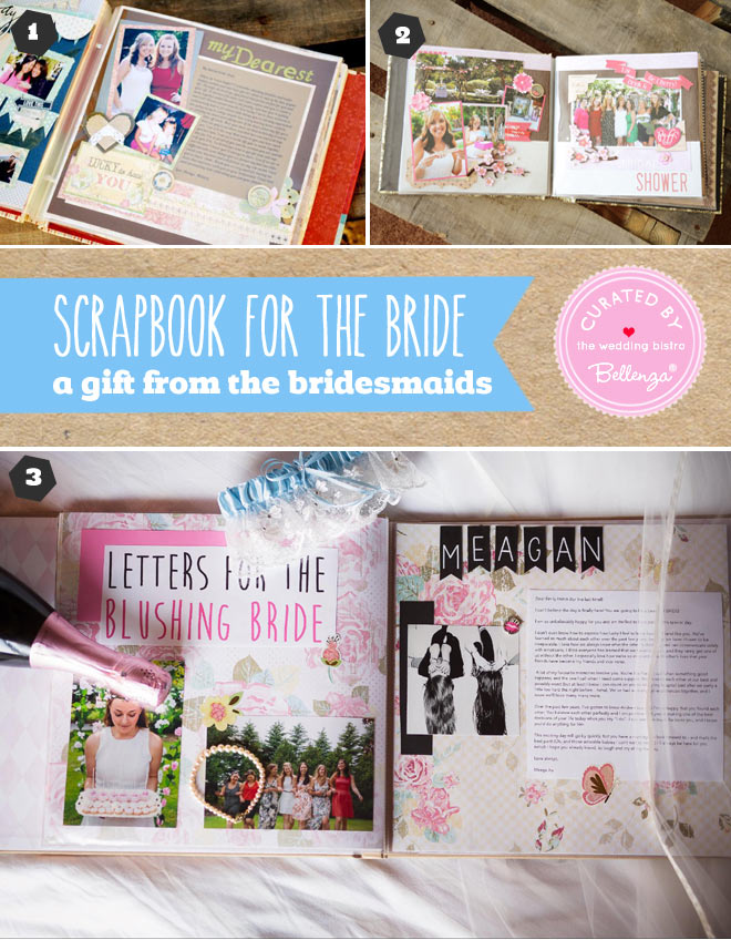 Unique wedding scrapbooks for the bride
