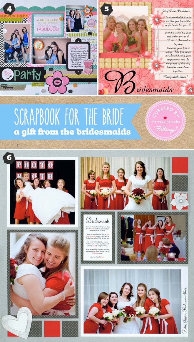 Bridesmaid scrapbook gift for the bride