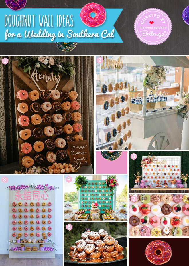 Donut wall vendors for Los Angeles weddings