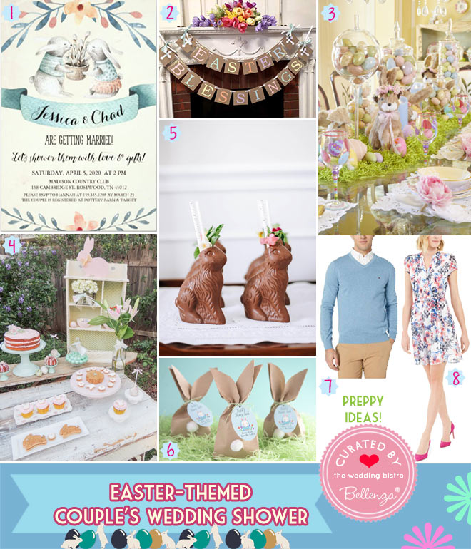 Easter themed couple's bridal shower ideas