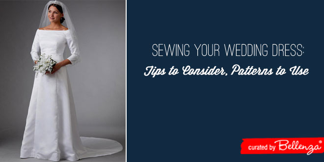 Patterns and tips for sewing your own wedding dress