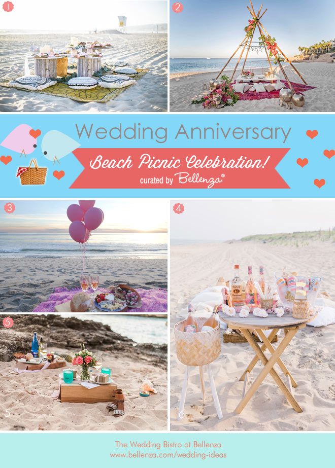 Romantic Beach Picnic Anniversary Date