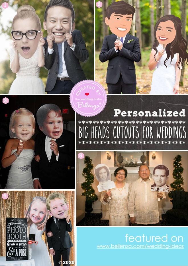 Bride and Groom Big Heads Cutouts