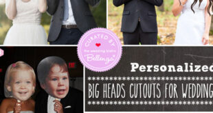 Big heads cutouts for weddings