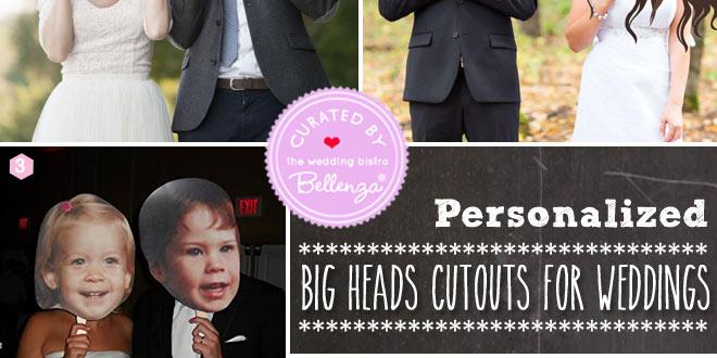 Big heads cutouts for weddings