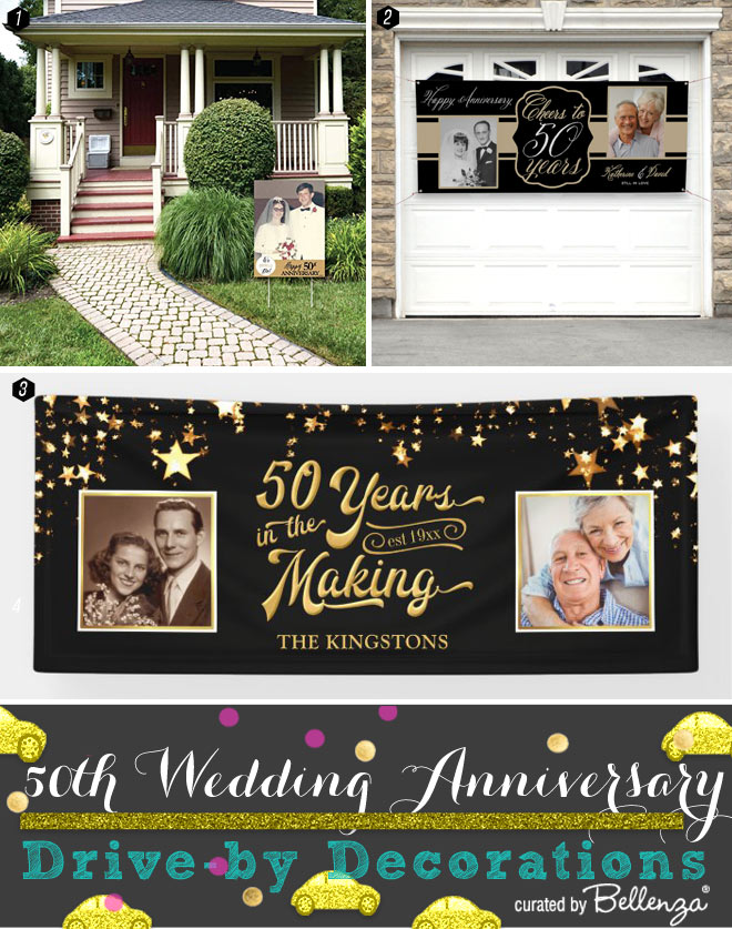 Personalized 50th Anniversary Yard Signs and Banners