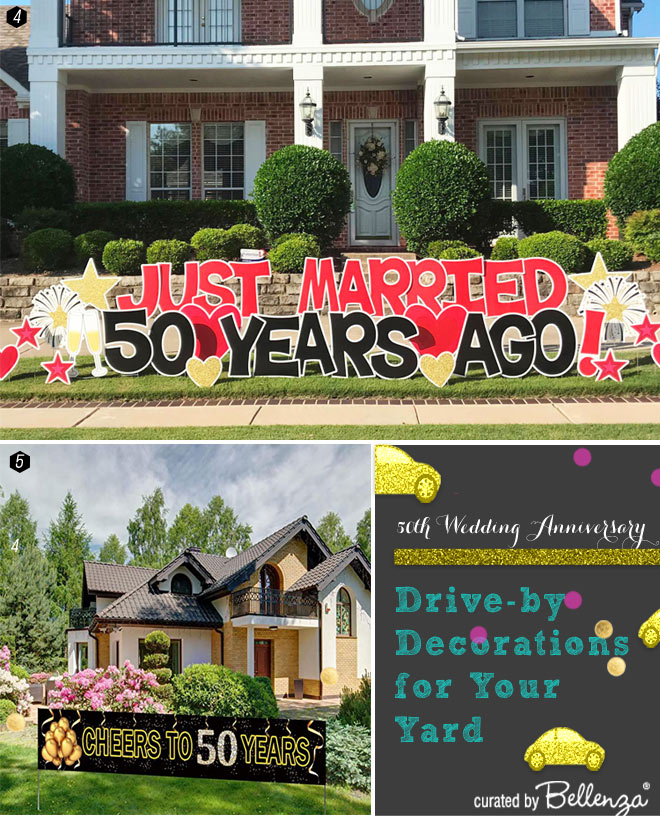 Large Yard Signs and Letters for 50th Anniversary
