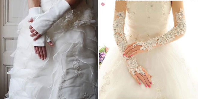 Vintage wedding gloves