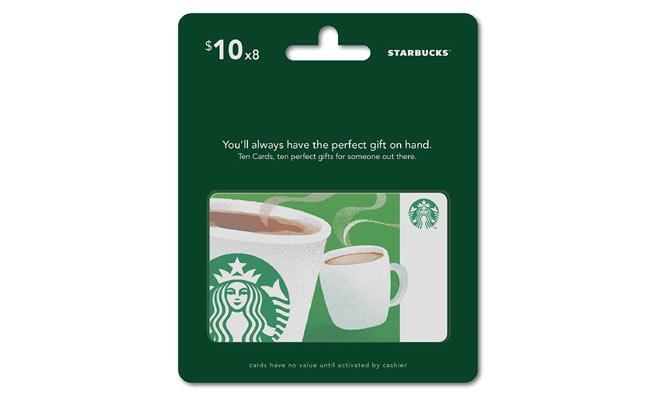 Starbucks gift card via Amazon
