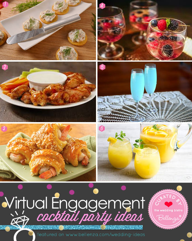 Virtual Engagement Party Appetizer and Cocktail Pairings