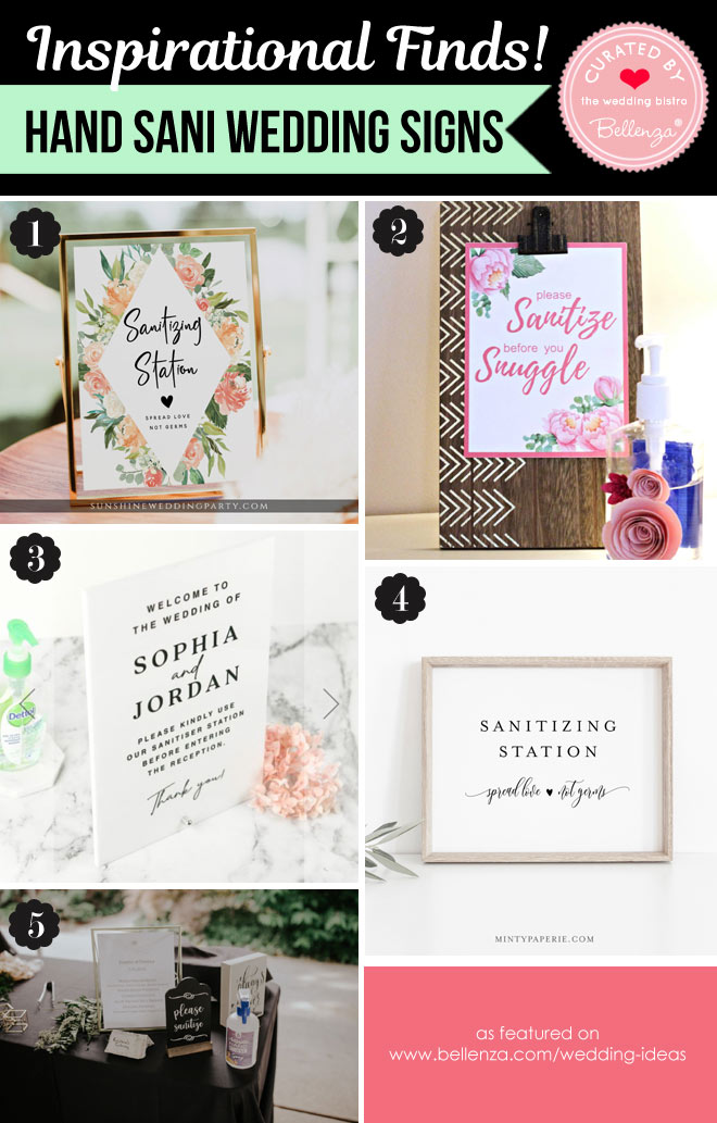 5 Pretty Hand Sanitizing Signs for a Sanitizer Wedding Station